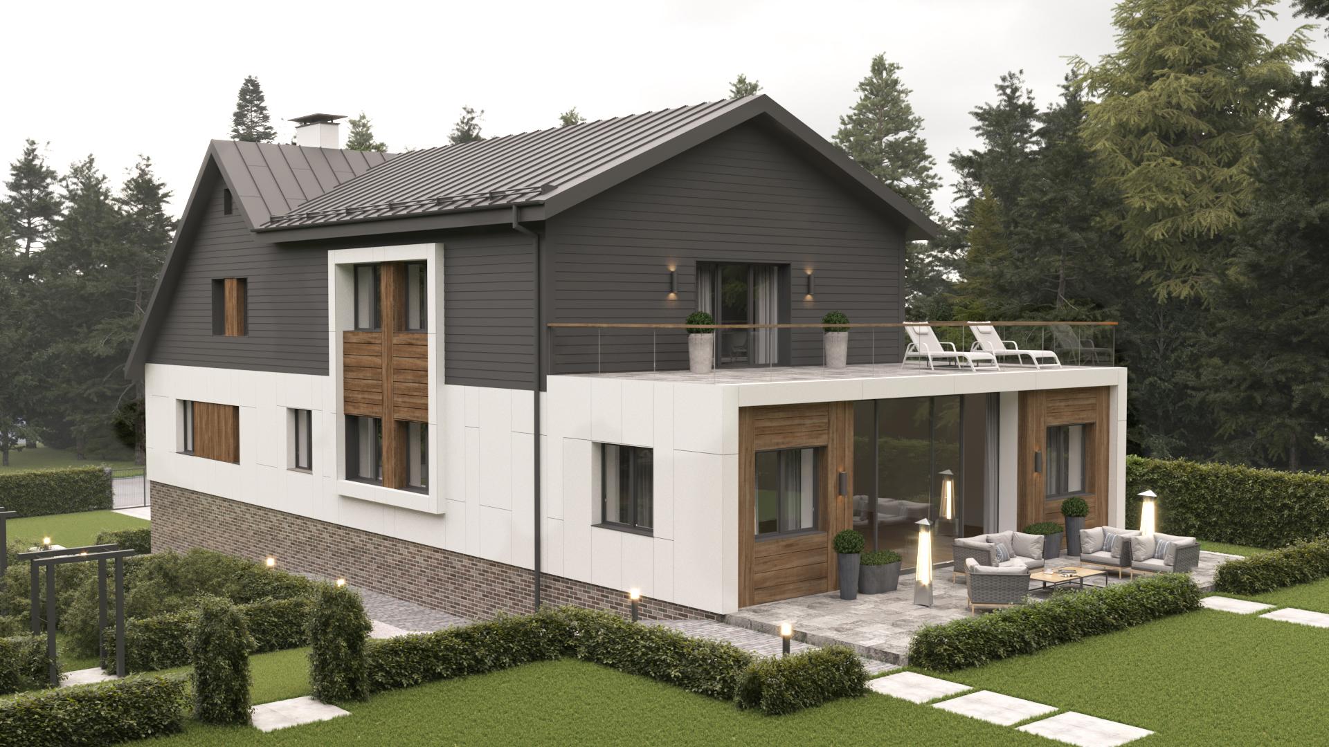 Клинкерная плитка в отделке фасадов дома в Раубичах