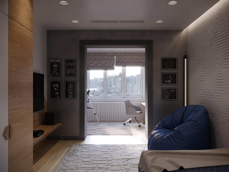 Дизайн просторной квартиры в городе Ташкент