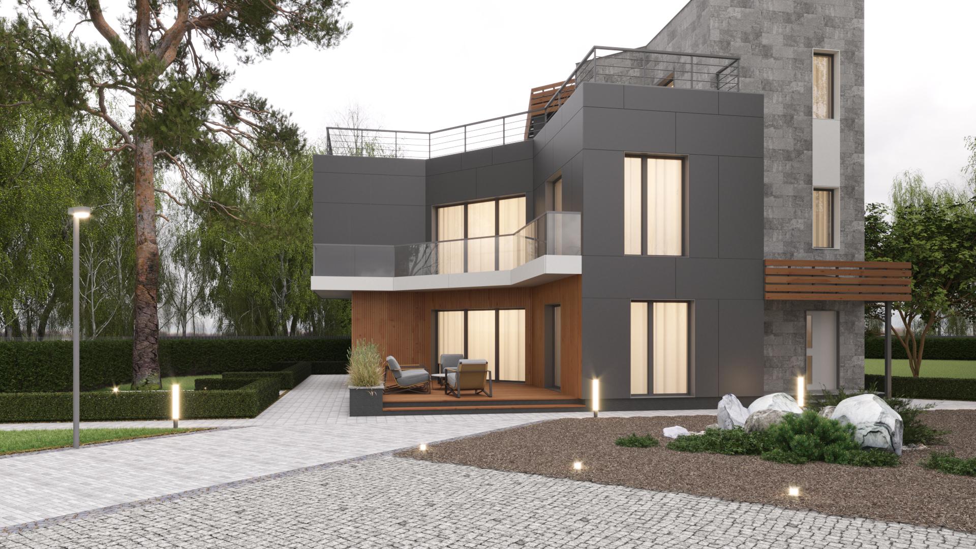 Натуральный камень в отделке фасадов дома