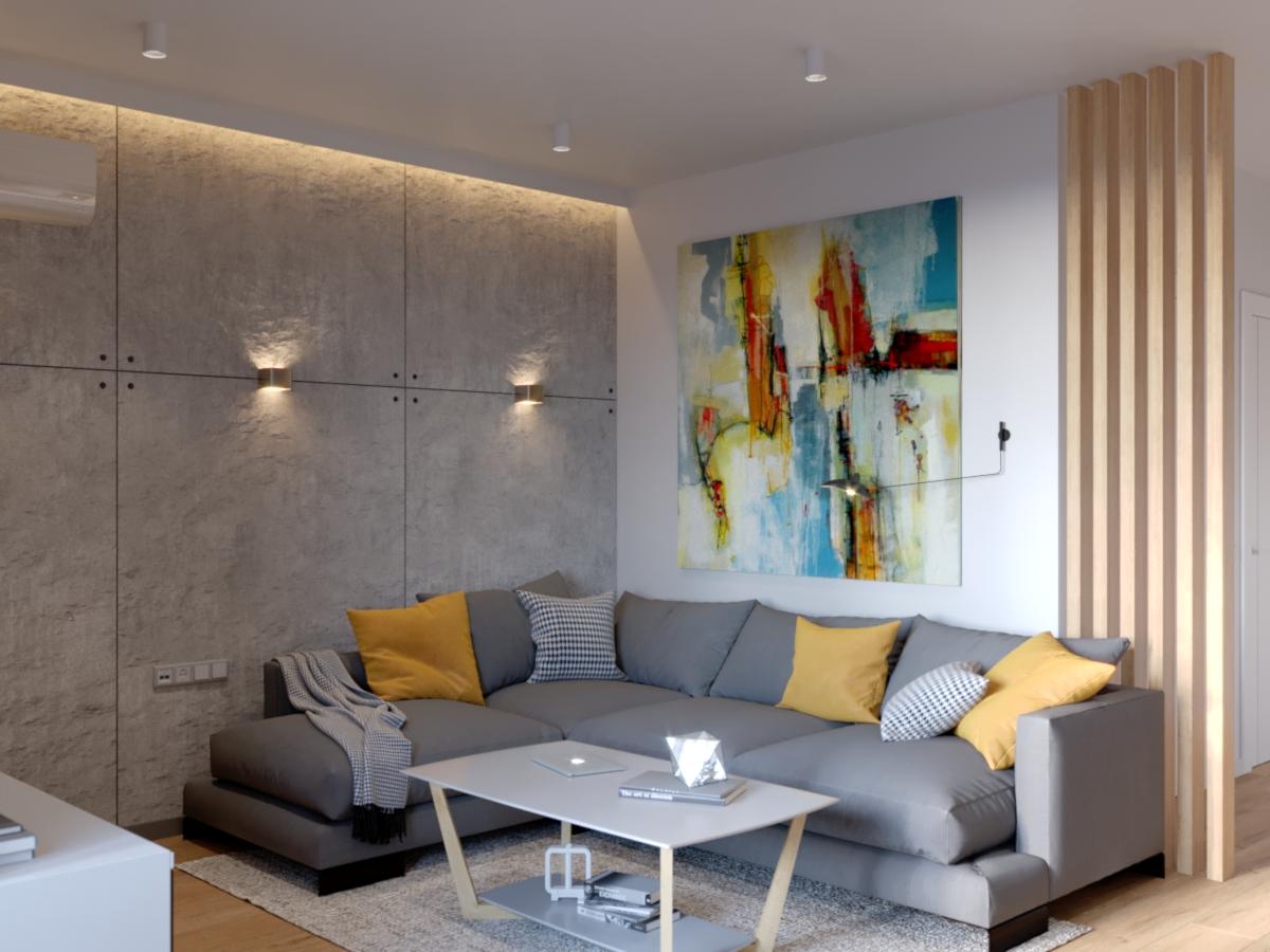 Дизайн квартиры с натуральными материалами в Минске