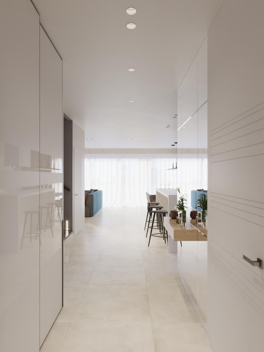 Светлый интерьер дома в Колодищах