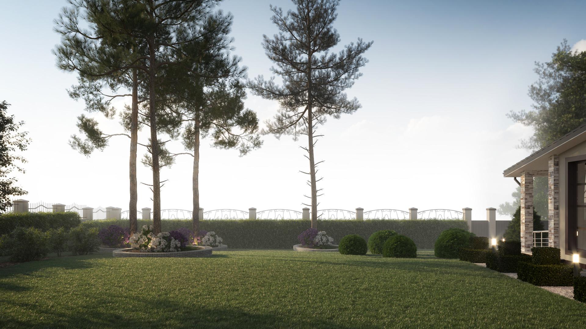 Лаконичный ландшафтный дизайн участка в Минске