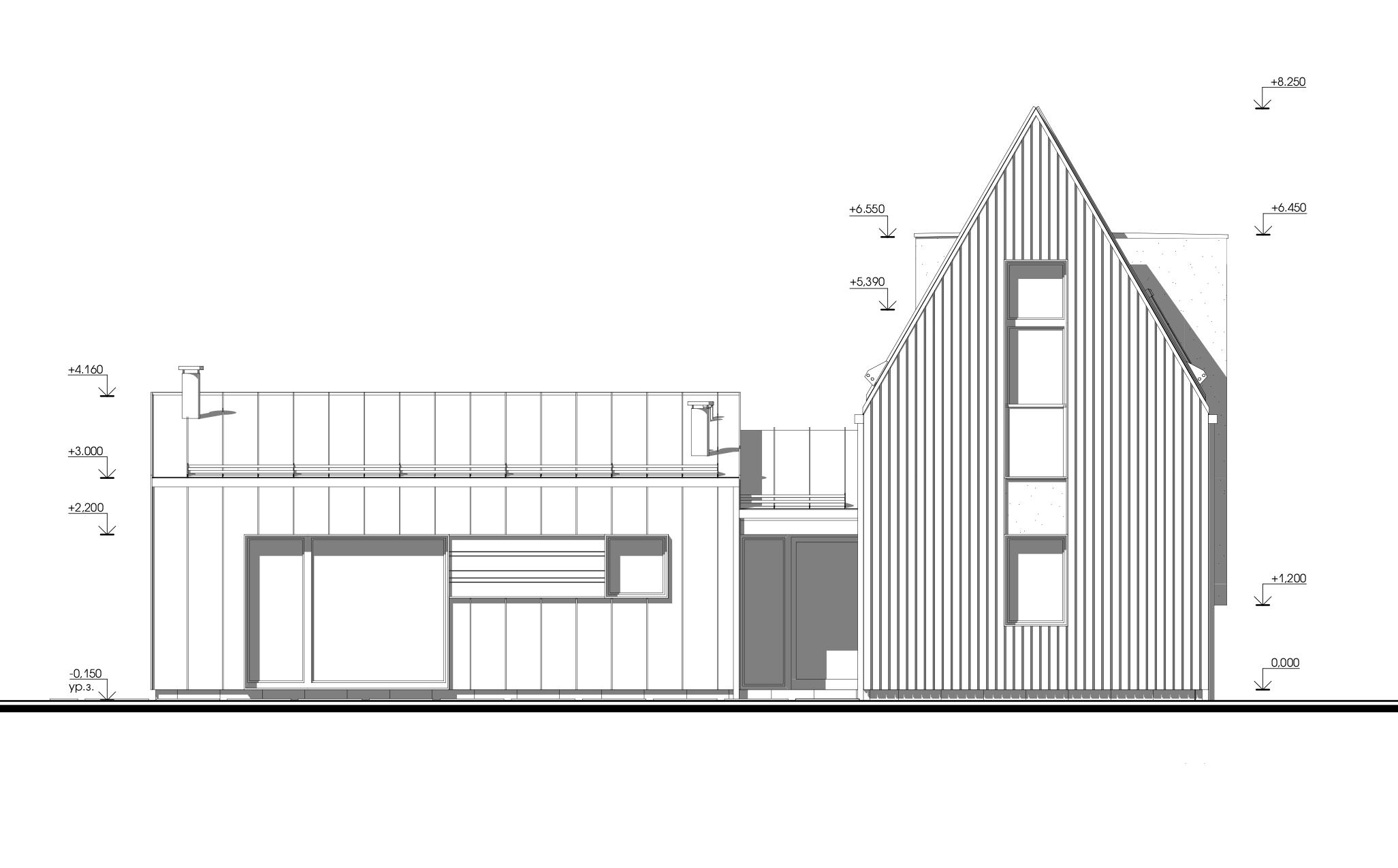 Архитектурный проект дома с бескарнизной кровлей