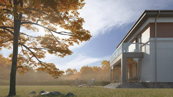 Вентилируемый фасад в дизайне экстерьера дома
