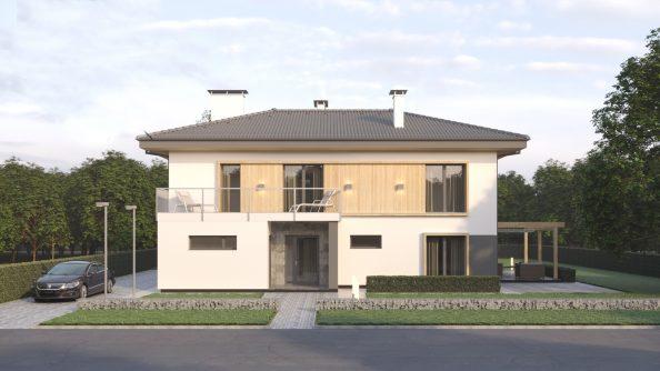 Архитектурный проект двухэтажного дома