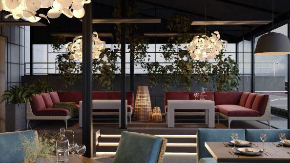 Дизайн летней террасы ресторана «Ангелы» в Минске