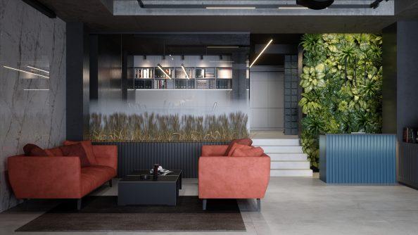 Дизайн салона освещения и предметов интерьера
