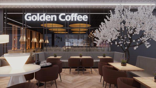 Golden Coffee Design 05