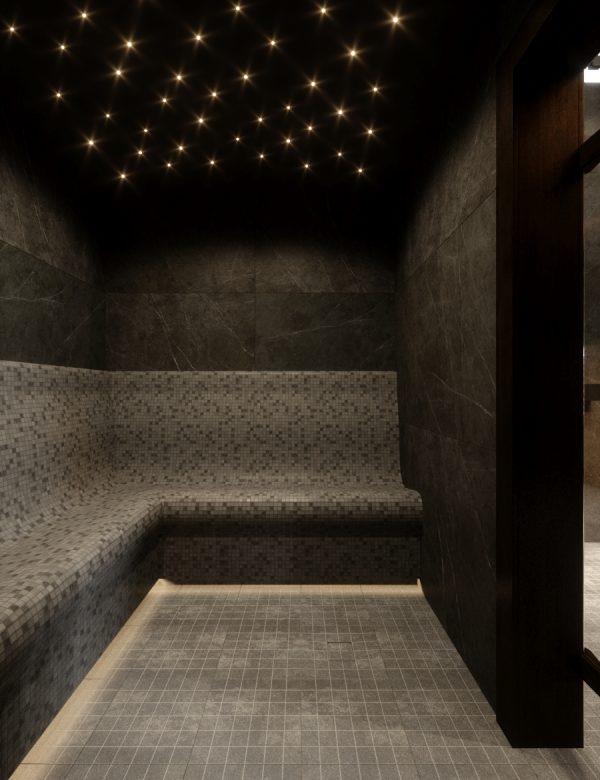 Тёмный дизайн бани в аг. Колодищи, Беларусь