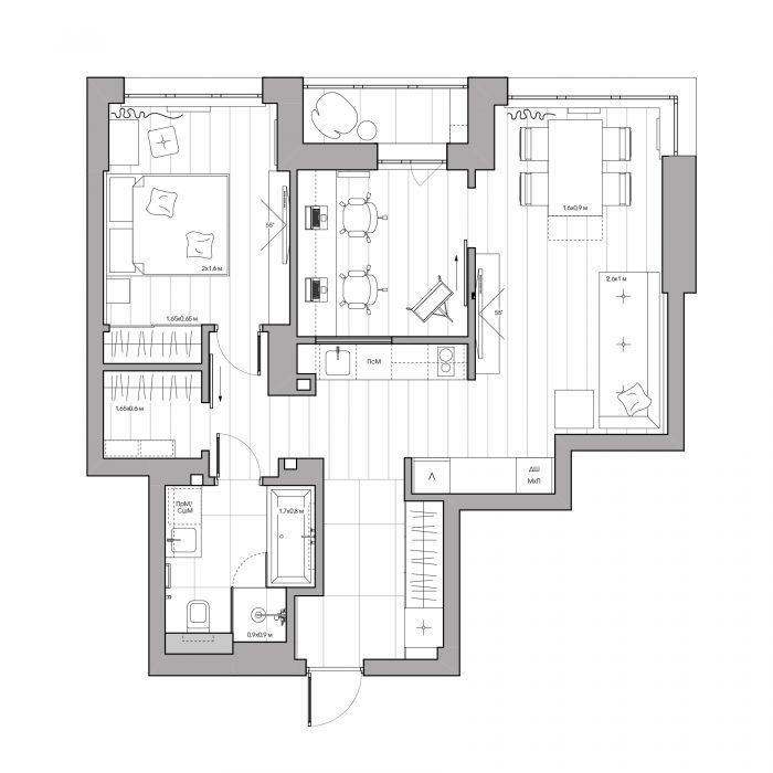 Нестандартная планировка квартиры в Маяке Минска
